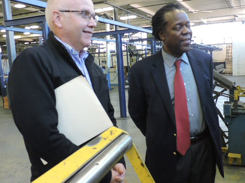 Treadware CEO, Clayton Van Kleeck hosts visiting trade representatives from Central Africa